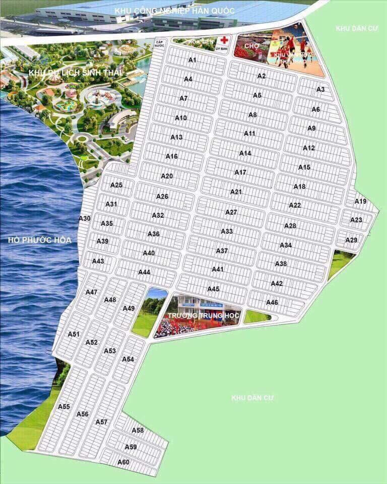 Bản đồ Dự án ở ấp 6 xã Nha Bích tỉnh Bình Phước