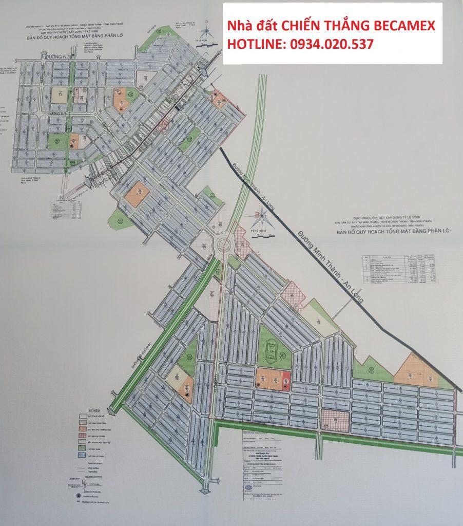 Bản đồ khu công nghiệp Becamex Bình Phước
